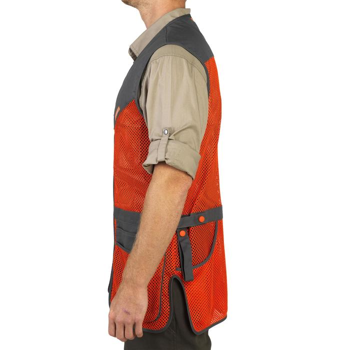 GILET BALL TRAP 100 ORANGE GRIS - 1064896