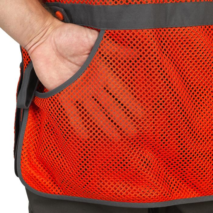 Vest 100 voor kleiduifschieten oranje grijs