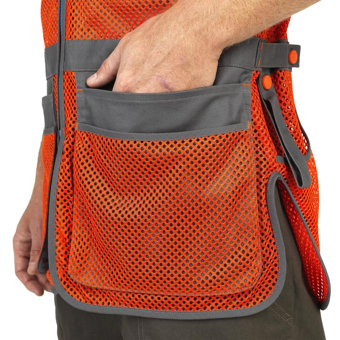 GILET BALL TRAP 100 ORANGE GRIS - 1064900