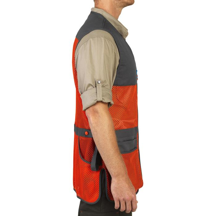 GILET BALL TRAP 100 ORANGE GRIS - 1064901