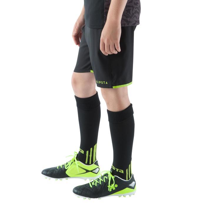 Pantalón corto de fútbol júnior F500 negro verde