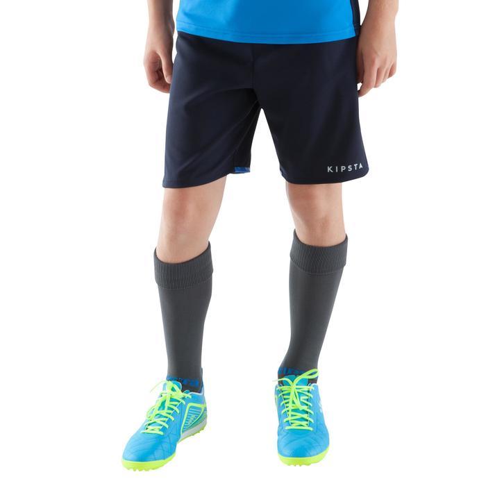 Short de football enfant F500 gris et - 1064957