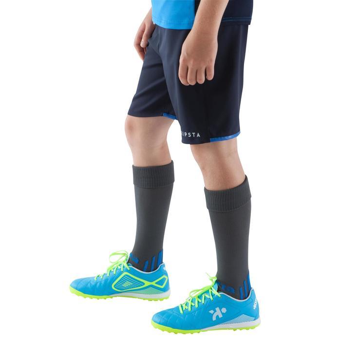 Short de football enfant F500 gris et - 1064958
