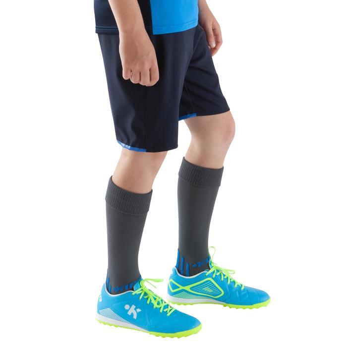Short de football enfant F500 gris et - 1064960