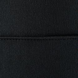 Sweatshirt Fußballtraining T500 mit RV-Kragen Kinder schwarz/neongelb