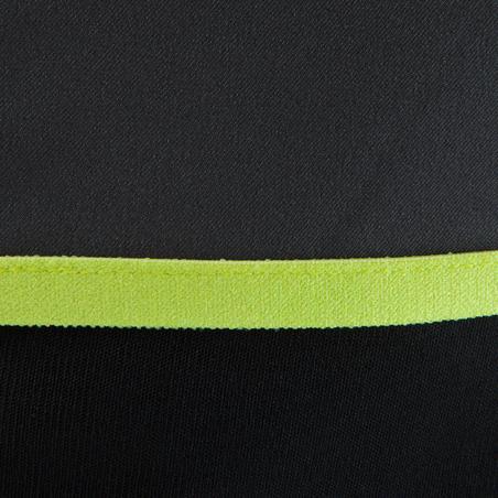 Chadail 1/2 glissière d'entraînement de soccer enfant T500 noir et jaune fluo