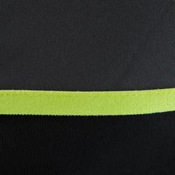 Trainingssweater voor voetbal kinderen rits T500 zwart/fluogeel