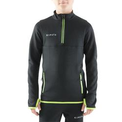 Trainingsjack voetbal kind T500 zwart/fluogeel