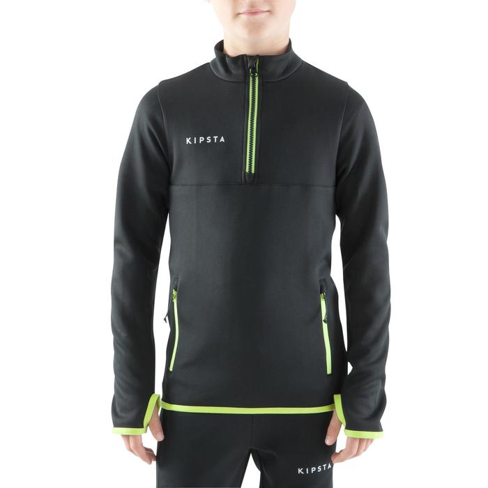 Trainingsjack voetbal kind T500 zwart