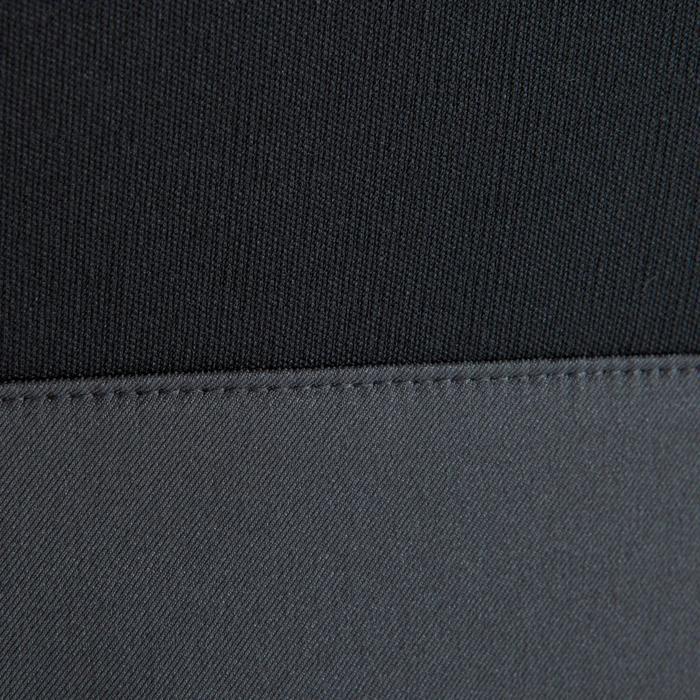 Sweatshirt Fußball T500 Kinder schwarz/neongelb