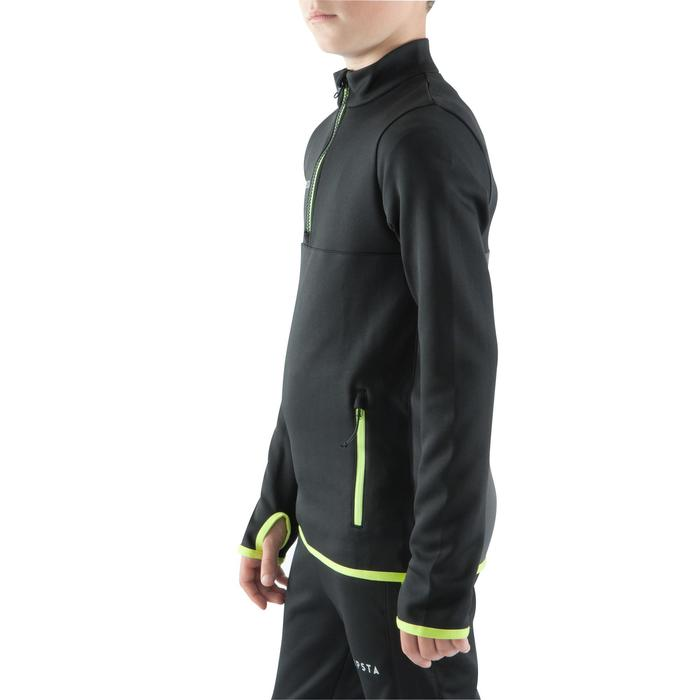 Sweat 1/2 zip d'entrainement de football enfant T500 - 1064988