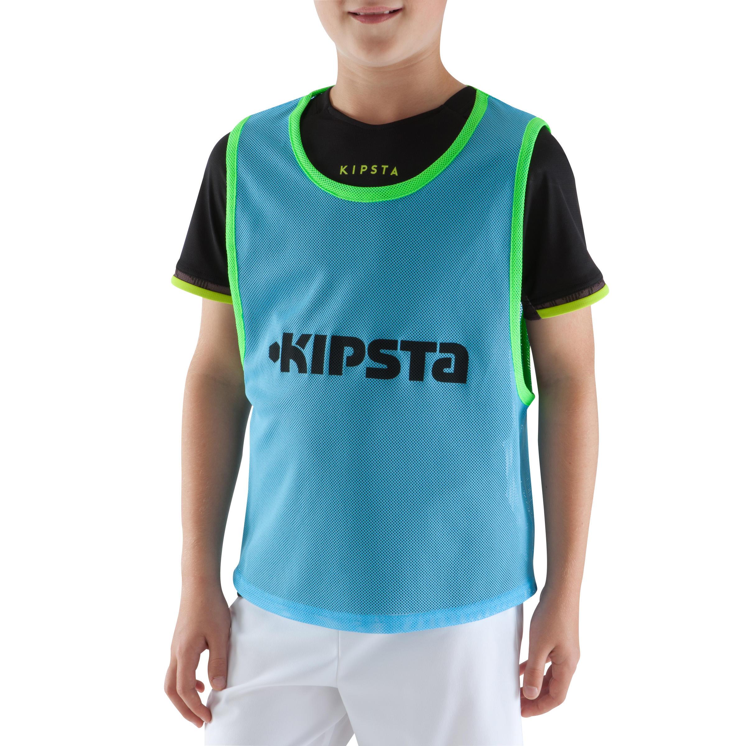 Dossard sports collectifs enfant bleu