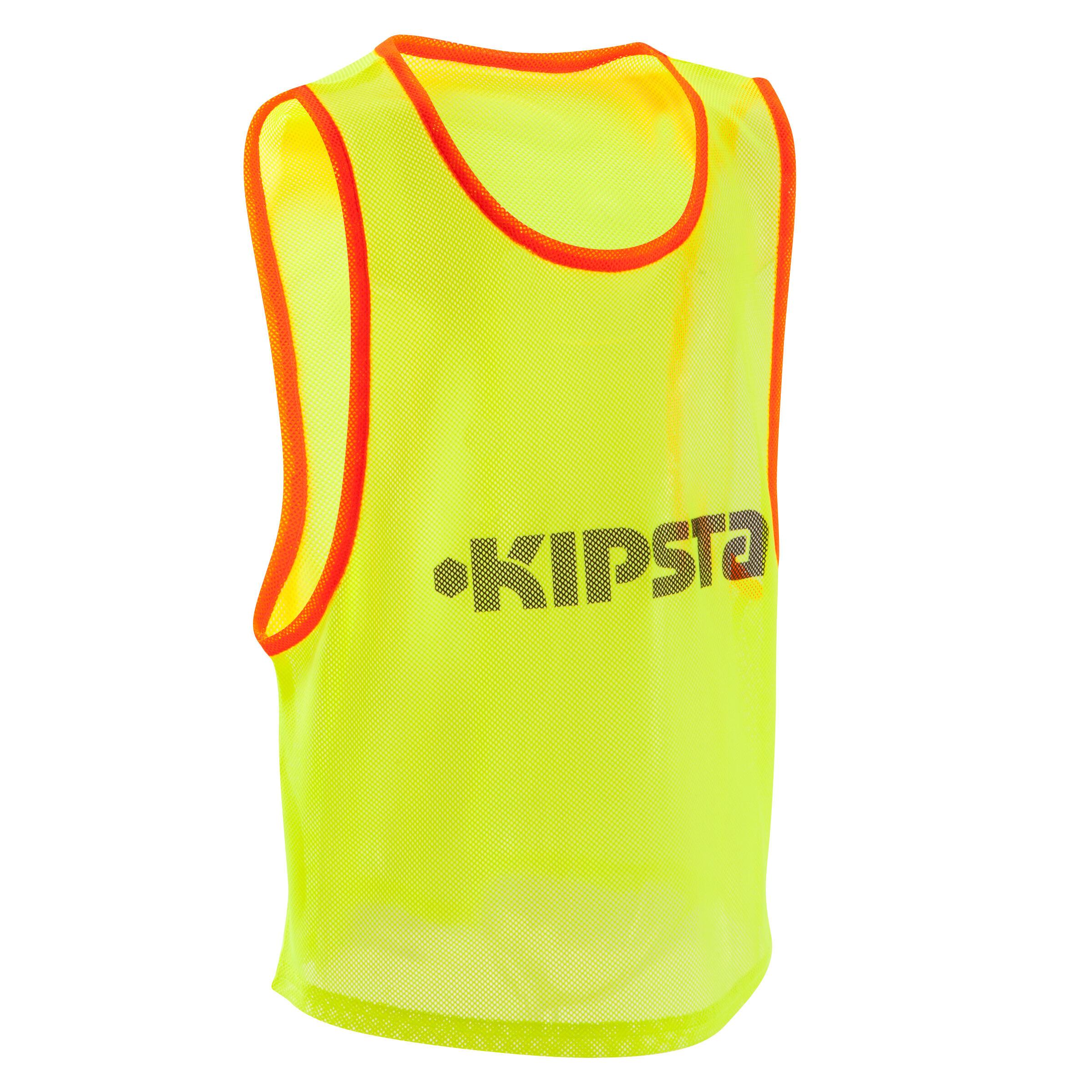 Dossard pour sports collectifs enfant jaune