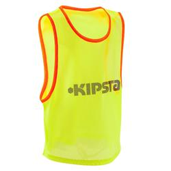 Chasuble sports collectifs enfant jaune