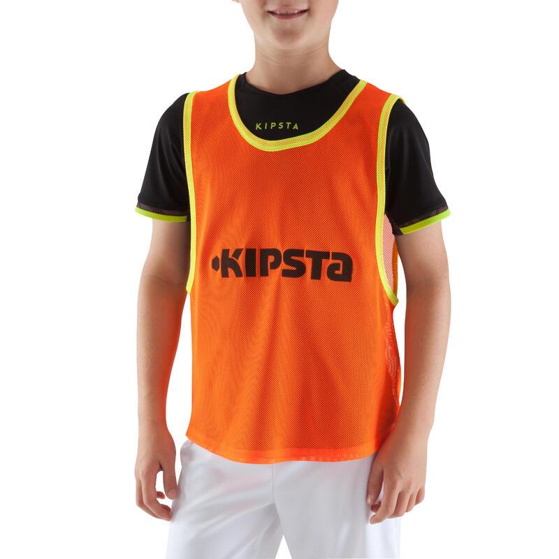 เสื้อแบ่งทีมเล่นฟุตบอลสำหรับเด็ก (สีส้ม)