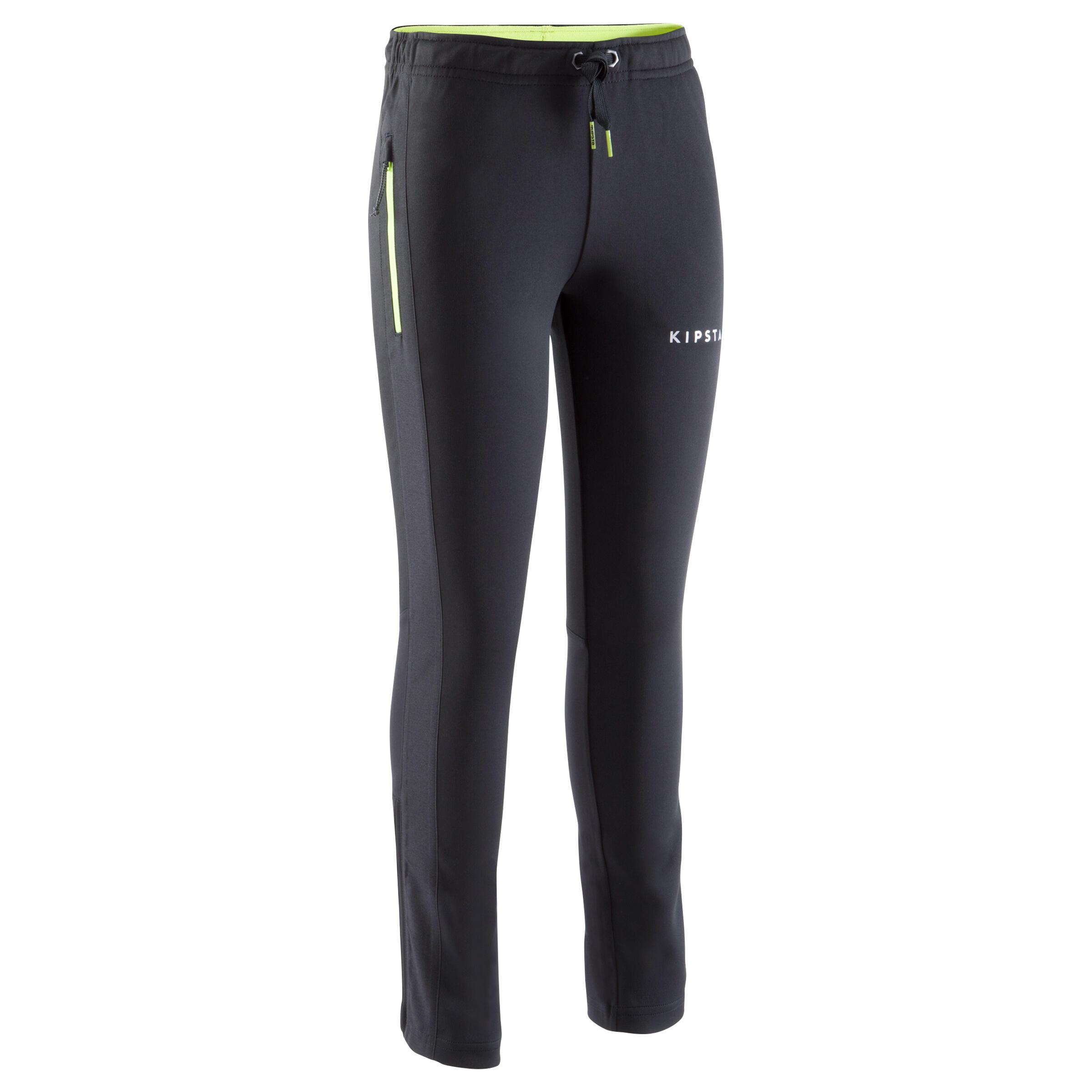 Pantalon d'entraînement de soccer enfant TP500 noir