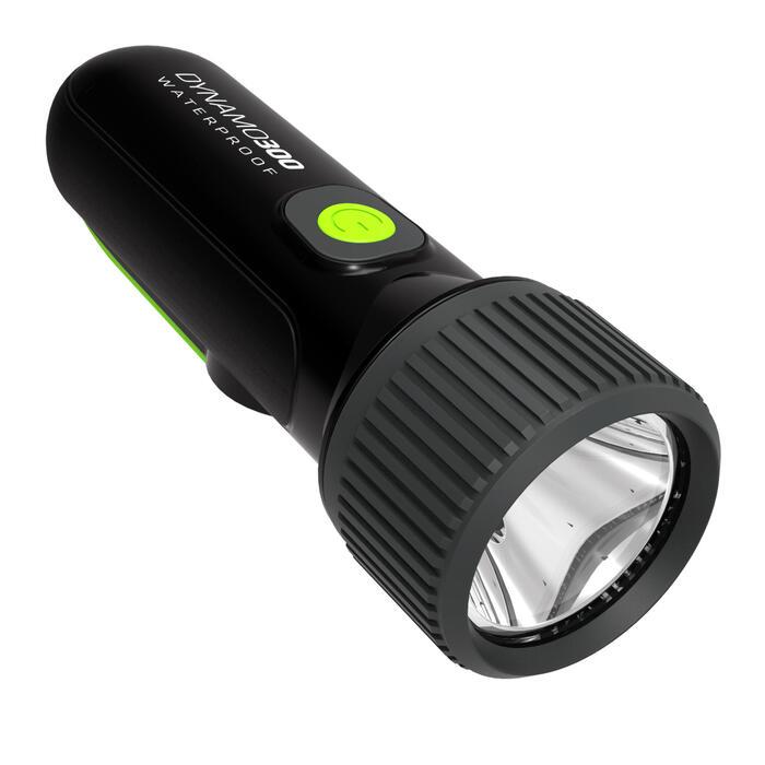 Taschenlampe Dynamo 300 wasserdicht 35 Lumen schwarz