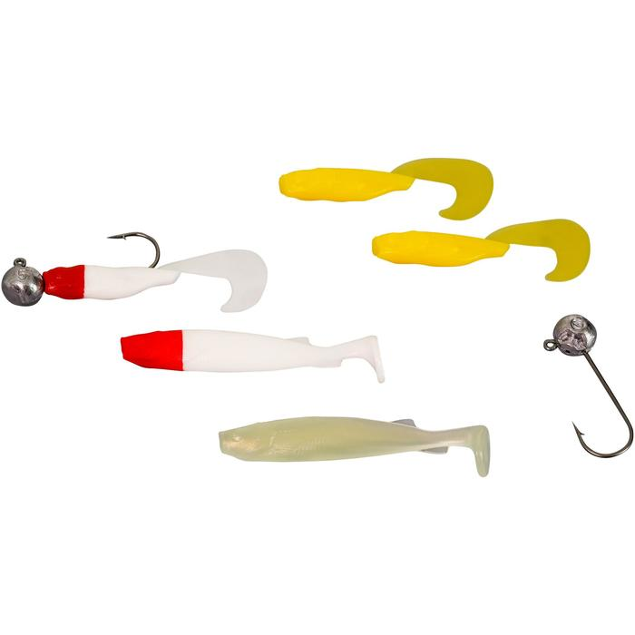 KIT PESCA CON SEÑUELOS FLEXIBLES M