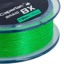 Gevlochten vislijn Braid 8 X groen 130 m