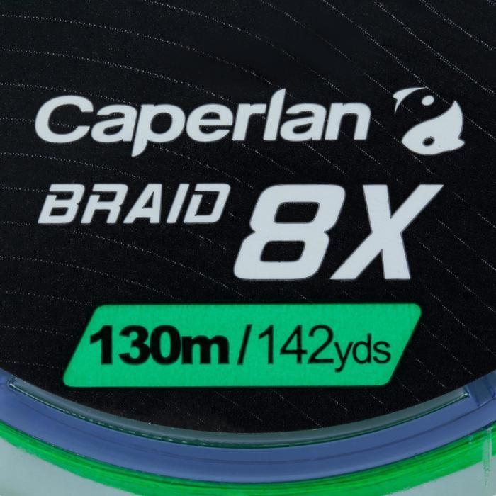 TRESSE DE PÊCHE BRAID 8 X GREEN 130 M
