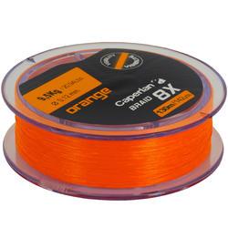 Gevlochten vislijn Braid 8 X oranje 130 m