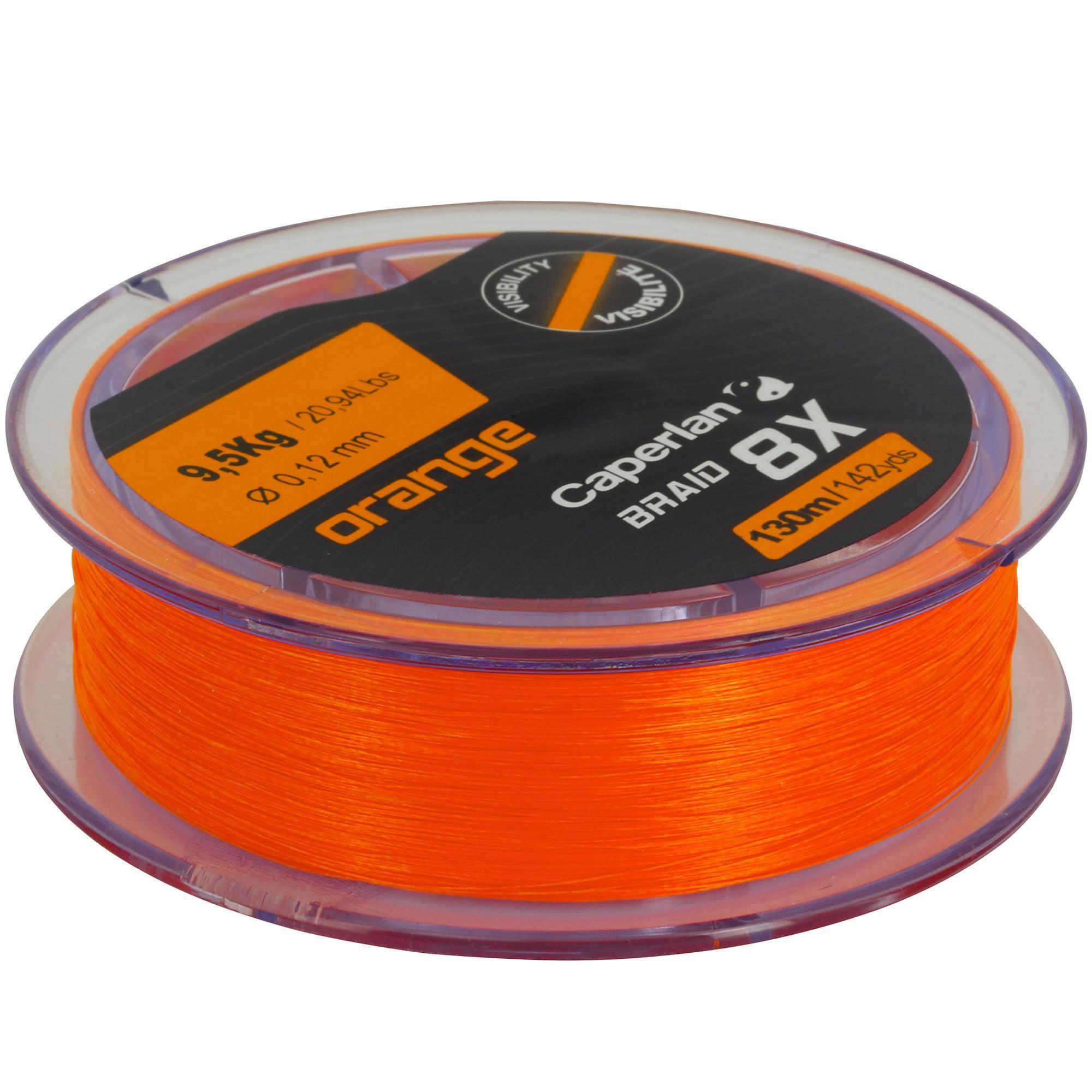 Caperlan Vislijn kunstaasvissen TX8 oranje 130 m