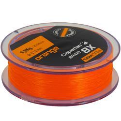 Vislijn kunstaasvissen TX8 oranje 130 m