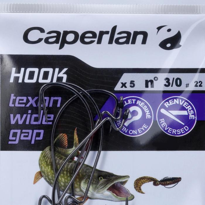 ANZUELO TEXAS DE PESCA HOOK TEXAN WIDE GAP 3/0