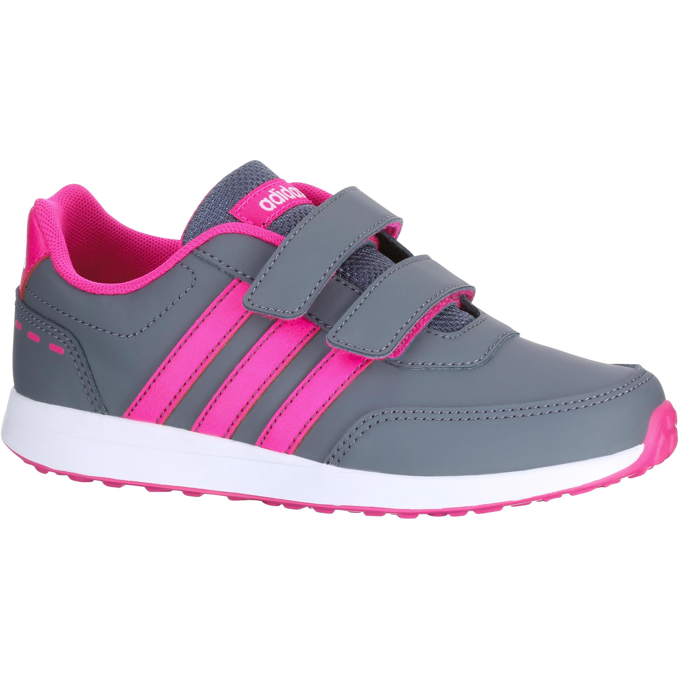Kindersneakers Switch grijs-roze