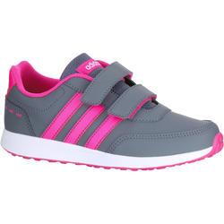 Kindersneakers Switch grijs/roze