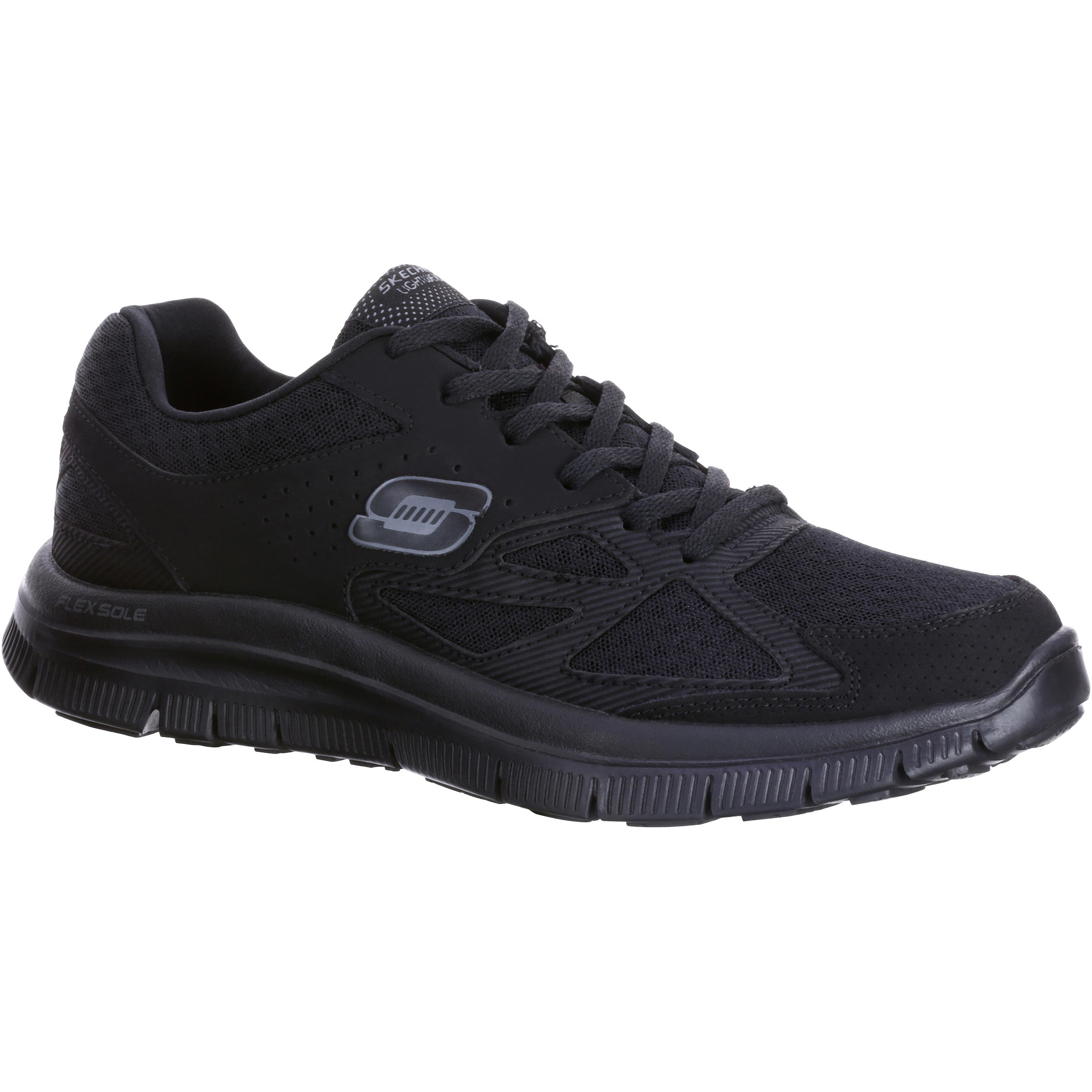 skechers chaussures marche sportive homme flex advantage noir decathlon. Black Bedroom Furniture Sets. Home Design Ideas