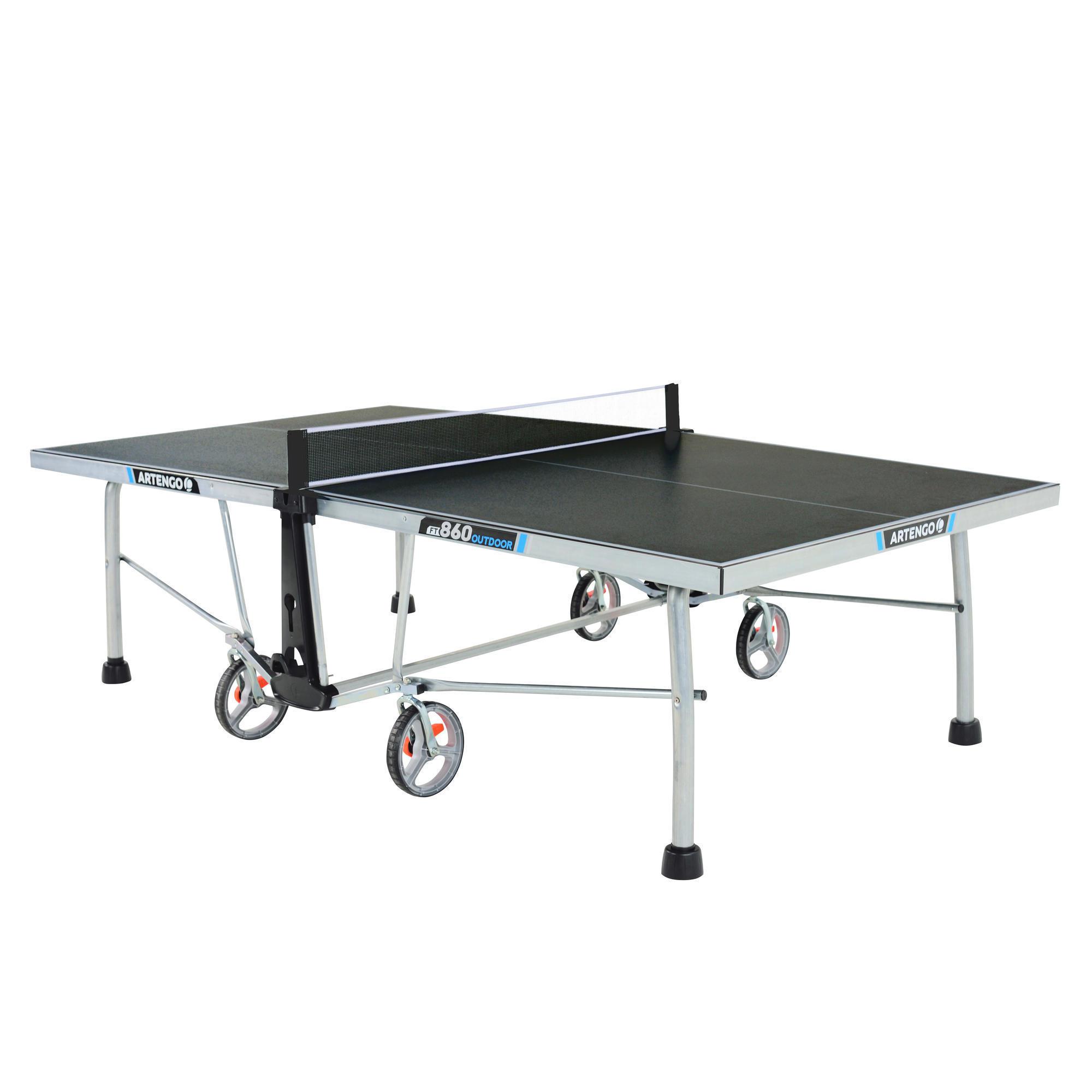 Table de tennis de table ft860 outdoor artengo - Table de ping pong exterieur decathlon ...