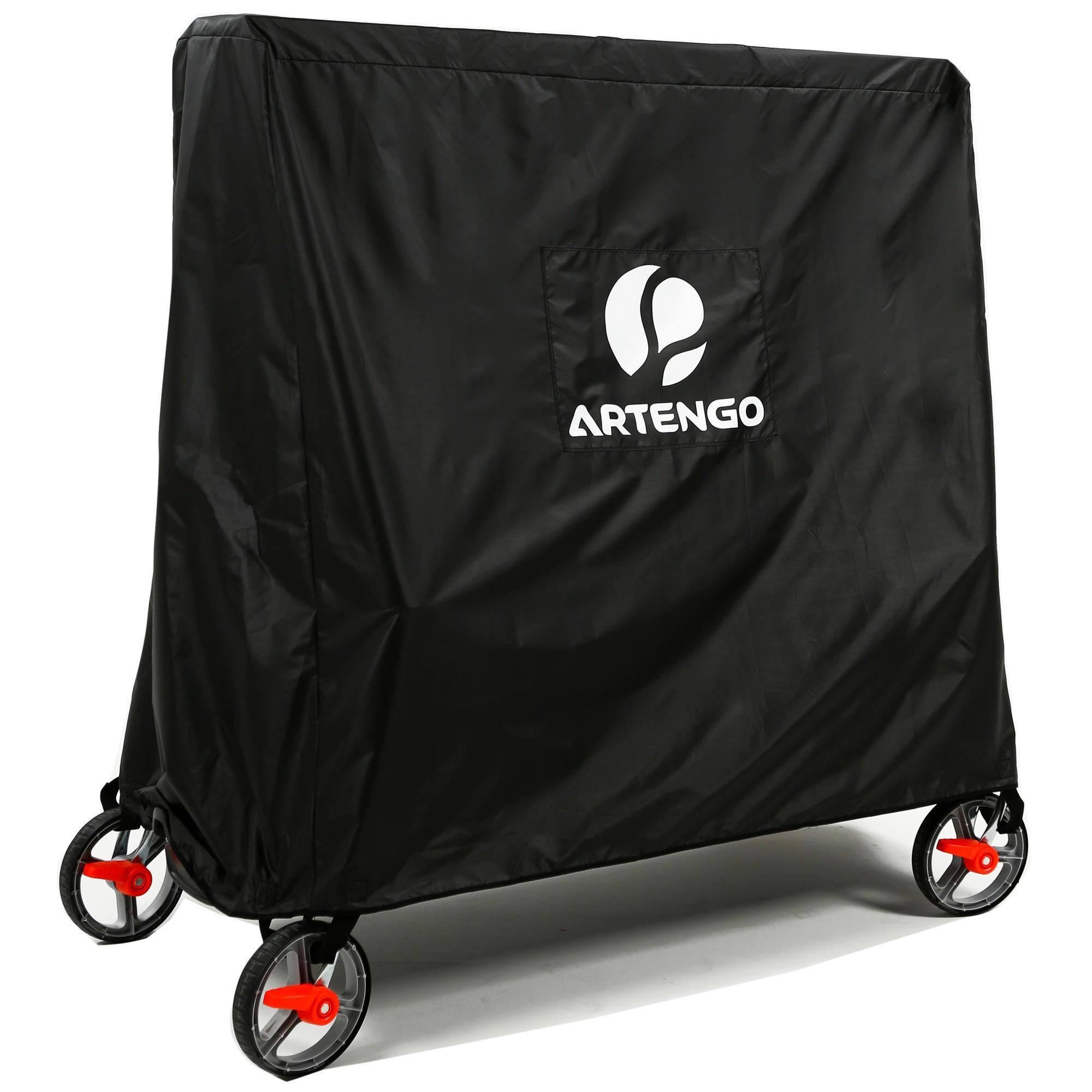 Artengo Beschermhoes voor opgeklapte tafeltennistafel PPC 500 zwart kopen met voordeel