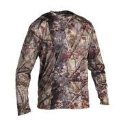 Rjava maskirna lovska majica z dolgimi rokavi ACTIKAM 100