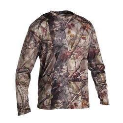 T-SHIRT CHASSE MANCHES LONGUES 100 RESPIRANT CAMOUFLAGE FORET