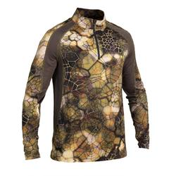 Langarmshirt FURTIV 500 atmungsaktiv, leise camouflage
