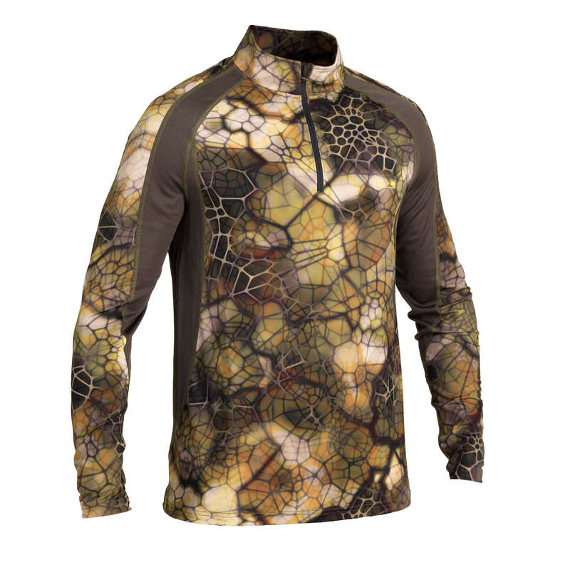 CAMO CLOTHING DRY/WET WEATHER Shooting and Hunting - 500 T-SHIRT LIGHT FURTIV SOLOGNAC - Hunting Types