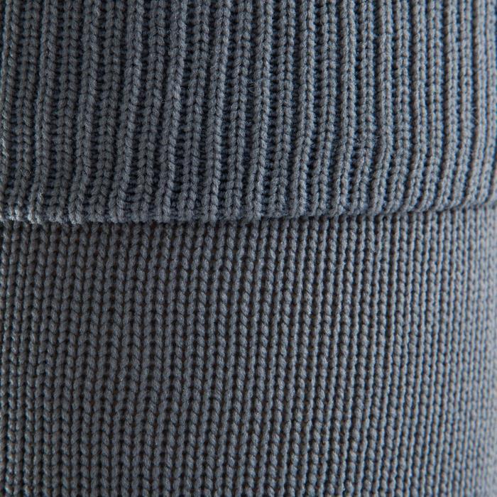 Chaussette de football enfant F500 noire et grise - 1066195