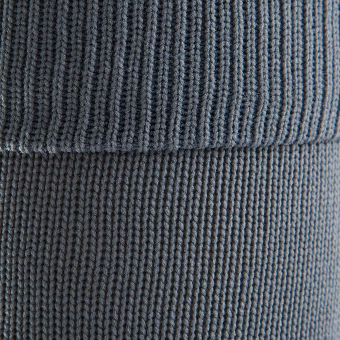 Chaussettes hautes de football enfant F500 grises bleues