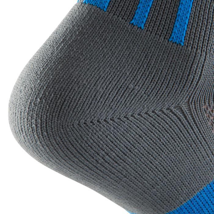 Chaussette de football adulte F500 noire et grise - 1066226
