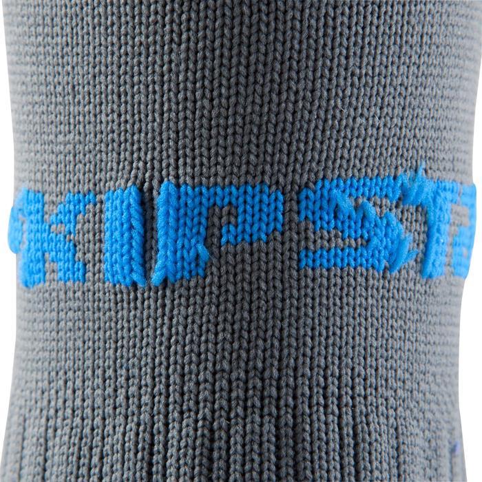 Medias largas de fútbol para adulto F500 grises azules