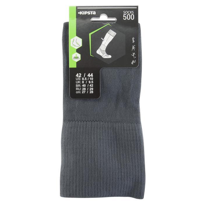 Chaussette de football adulte F500 noire et grise - 1066228