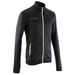 T500 成人款足球運動戶外夾克 - 黑色