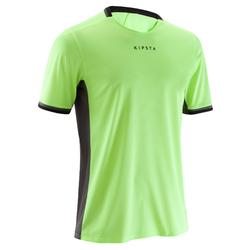 F500 Adult Football Shirt - Neon Yellow/Grey