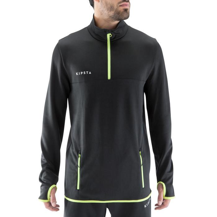 Sweat 1/2 zip d'entrainement de football adulte T500 - 1066328