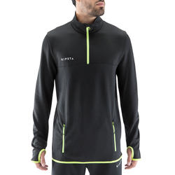 T500 Adult Soccer Training Half-Zipper Sweatshirt - Black