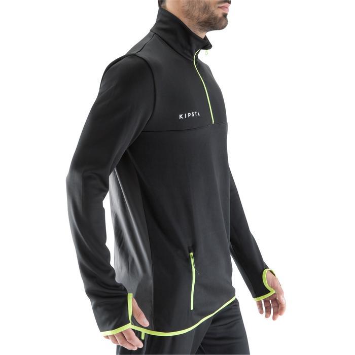 Sweat 1/2 zip d'entrainement de football adulte T500 - 1066333