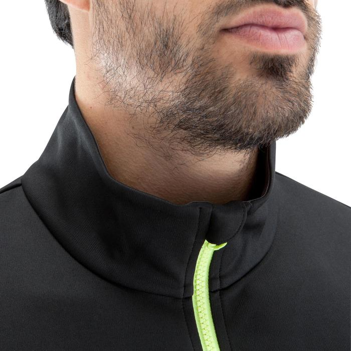 Sweat 1/2 zip d'entrainement de football adulte T500 noir