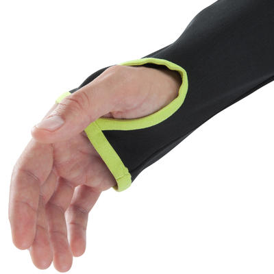 Sweat 1/2 zip d'entrainement de football adulte T500 noir