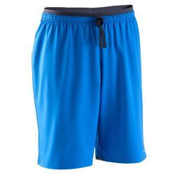 Pantalón corto de fútbol júnior F500 azul y negro